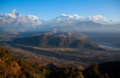 View Of The Himalaya From Sarangkot, Pokhara Royalty Free Stock Image