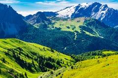 View Of The Italian Alps Mountain The Dolomites Stock Photo