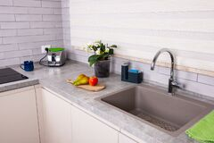 View Of The Kitchen Sink Royalty Free Stock Images