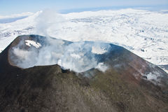 Free View Of The Mouth Of An Active Karymsky Volcano From A Helicopte Stock Photo - 77343990