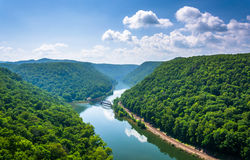 View Of The New River From Hawk S Nest State Park, West Virginia Stock Photo