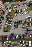 View Of The Parking Lot With 16 Floors. Royalty Free Stock Image