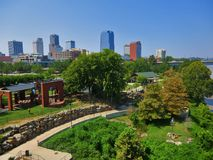 View Of The Peabody Park/ Riverfront Park From Junction Bridge. Stock Photography