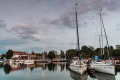 Free View Of The Port In Wegorzewo Royalty Free Stock Images - 208312219