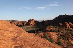 Free View Of The Red Desert Landscape Of Snow Canyon State Park Stock Photography - 93660042