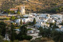 Free View Of The Saint Ioannis Kleidonias In The Center Of Lefkes, Paros Island, Greece Stock Photography - 217484302