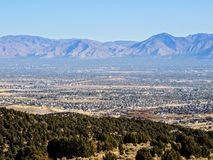 Free View Of The Salt Lake Valley And Wasatch Front Desert Mountains In Autumn Fall Hiking Rose Canyon Yellow Fork, Big Rock And Waterf Royalty Free Stock Photo - 101903565