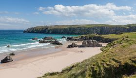 View Of The Sango Sands Beach In Durness Northern Scotland Royalty Free Stock Photography