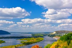 Free View Of The Volga River In The Zhiguli Mountains On A Clear Sunny Day Stock Photography - 157944002