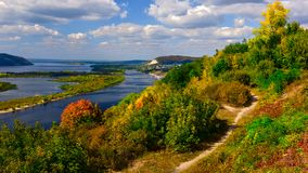 Free View Of The Volga River In The Zhiguli Mountains On A Clear Sunny Day Stock Photography - 157944022
