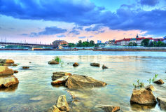 View Of Warsaw From The River Royalty Free Stock Photography