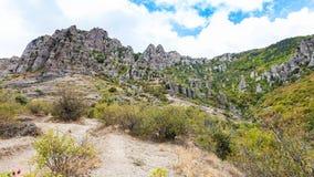 Free View Of Weathered Rocks At Demerdzhi Mountain Stock Images - 101013064