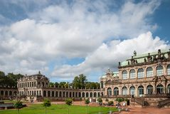 View Of Zwinger Square From Steps Of Old Masters Picture Gallery Towards French And Rampant Pavilions At Dresden, Saxony, Germany Royalty Free Stock Images