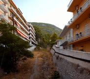 A view of a desiccated river at Loutraki Royalty Free Stock Image