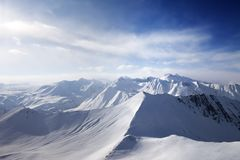 View on off-piste slope Royalty Free Stock Photos