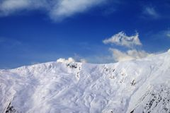 View on off-piste slope in early morning Royalty Free Stock Photo