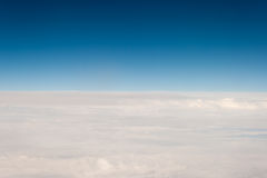 View from off the plane on clouds. Stock Images