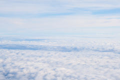 View from off the plane on clouds. Stock Photos