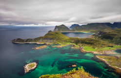 View from Offersoykammen, Lofoten islands, Norway Stock Photography