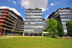 View of an office building in the city park Stock Photography