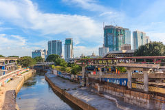 View of office building and cityscape from train station, Kuala lumpur, Malaysia. Stock Photography