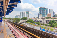 View of office building and cityscape from train station, Kuala lumpur, Malaysia. Stock Image