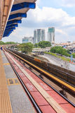 View of office building and cityscape from train station, Kuala lumpur, Malaysia. Stock Photo