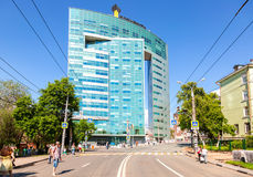 View of the office building of the OJSC Samaraneftegaz - unit of Royalty Free Stock Image