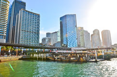 View of the office buildings and Sydney Harbour Royalty Free Stock Photography