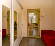 A view of office room from a corridor Stock Photo