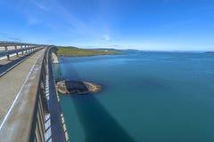 View from Ognasundbrua (bridge) in Rogaland, Norway Stock Photo