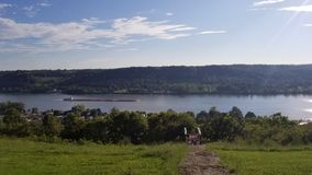 Ohio River. View of the Ohio River from the Rankin House royalty free stock photography