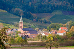 View of Ohlsbach town in the Black Forest Royalty Free Stock Photo