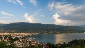 View of Ohrid bay in Macedonia Royalty Free Stock Photos