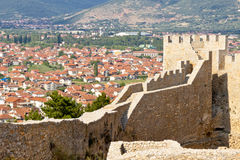 View on Ohrid from old fort. Stock Photo