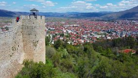 Ohrid town as seen from the castle Samuil