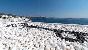 Oia panorama - Santorini Cyclades Island - Aegean sea - Greece. View of Oia panorama - Santorini Cyclades Island - Aegean sea - Greece royalty free stock photo