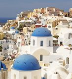 Oia on the Island of Santorini royalty free stock image