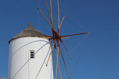 View of the Oia's windmill in Santorini island Royalty Free Stock Photo