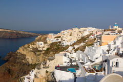 View on Oia in Santorini Royalty Free Stock Photography