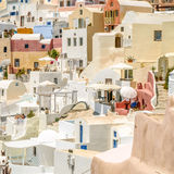 View of oia in santorini Royalty Free Stock Photos
