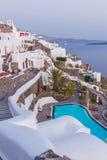 View on Oia in Santorini Royalty Free Stock Photos