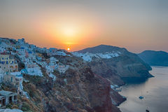 View on Oia in Santorini Royalty Free Stock Image