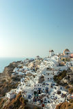 View on Oia in Santorini Stock Images