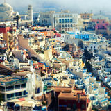 View of Oia, Santorini, Greece Royalty Free Stock Images