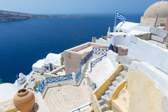 View From Oia, Santorini, Greece Stock Photos