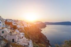 View on Oia in Santorini Stock Image
