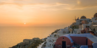 View on Oia in Santorini Royalty Free Stock Photo