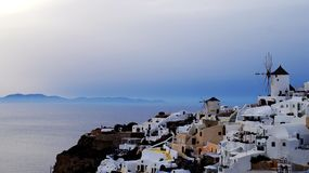 The view of Oia. The sunset view of Oia,santorini Royalty Free Stock Images