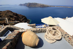 View of Oia town Royalty Free Stock Images